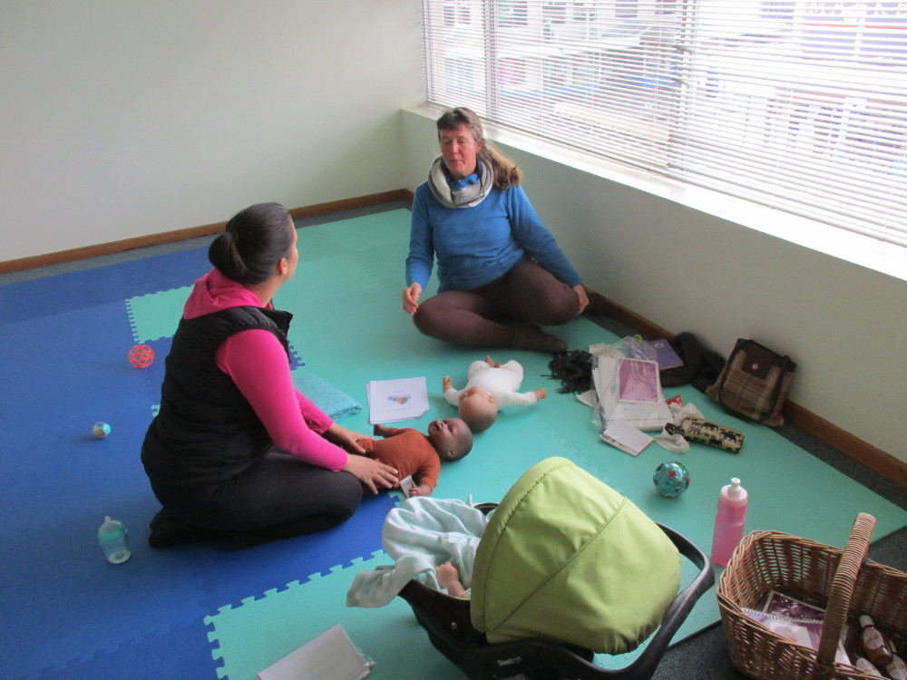 Baby massage group class